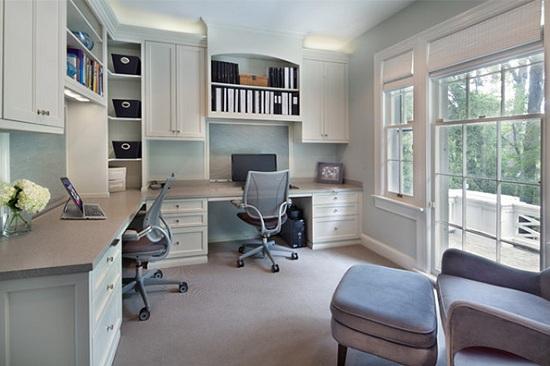 Những mẫu thiết kế phòng làm việc đẹp tại nhà
