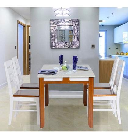 Bộ bàn ghế phòng ăn HGB64A, HGG64