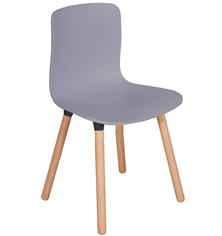 Ghế nhựa chân gỗ G43